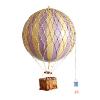 Authentic Models Floating the Skies Hot Air Balloon Model 8.5cm Balloon Ornament - Lavender