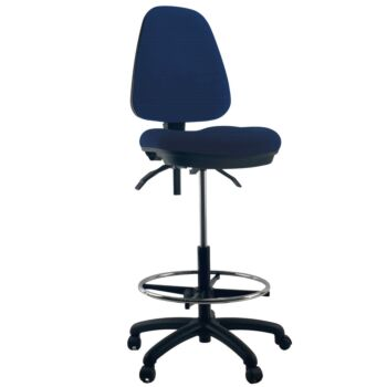 WAVES High Back Drafting Office Chair Seat Bump Comfort
