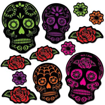 Day Of The Dead Sugar Skull Cutouts