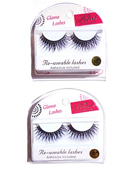 Eyelashes- Ex Long Dark Criss-Cross Re-usable
