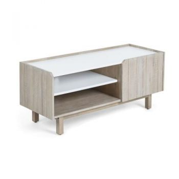 Soledas Acacia Wood Entertainment TV Unit 120cm - Natural/White