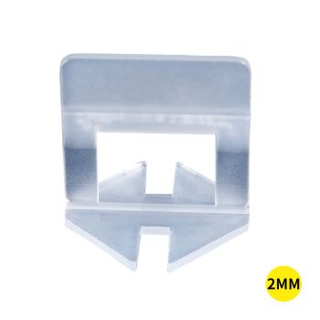 400x 2MM Tile Leveling System Clips Space Saving Tiling Tool