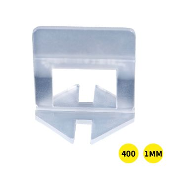 400x 1MM Tile Leveling System Clips Space Saving Tiling Tool