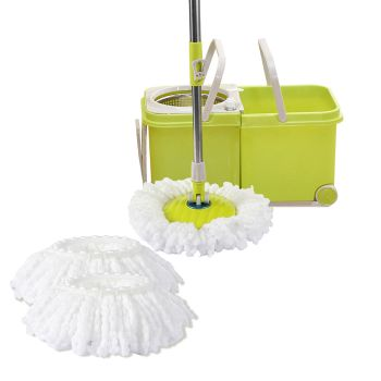 Spin Mop Bucket Set 360∞ Spinning Stainless Steel Rotating
