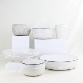 SILICONE FOOD COVERS   CLEAR   SET OF 6   REUSABLE