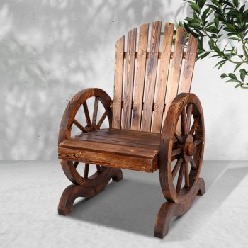 Wooden Wagon Chair Outdoor Chairs Garden Indoor Lounge Patio Lounge Furniture Gardeon