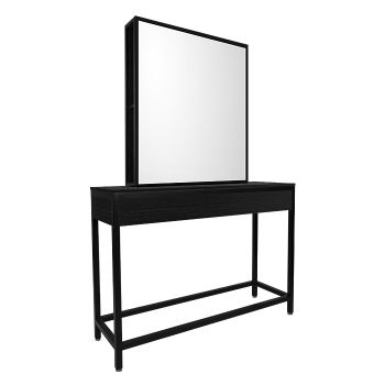 Glammar Norfolk Work Station Single Black