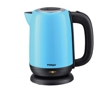 TODO 1.7L Stainless Steel Cordless Kettle 2200W Electric Water Jug Blue