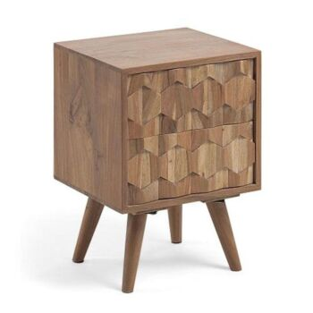 Irina Bedside Nightstand End Lamp Side Table Wattle Wood - Natural
