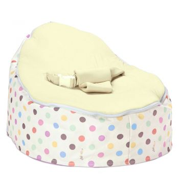Chibebe Sprinkles Baby Bean Bag - Cream