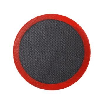 Gourmet Kitchen Round Oven Safe Pizza Steaming And Baking Mat - Red/Black - Dia. 30Cm