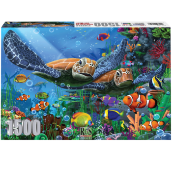 Turtles Of The Deep 1500 Piece Jigsaw Puzzle   Beautiful Sea Creatures!