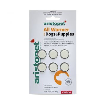 Aristopet Intestinal All Wormer Tablets for Puppies and Small Dogs up to 10kg