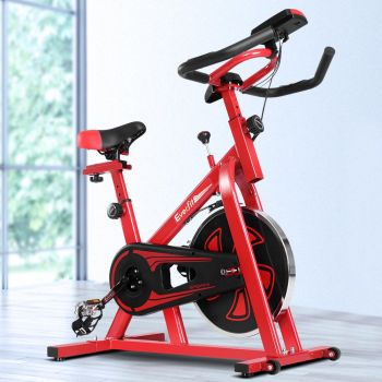 Everfit Spin Bike Exercise Bike Cycling Fitness Commercial Home Workout Gym Equipment Red