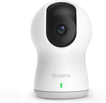 blurams Dome Pro, 1080p Security Camera with Siren | PTZ Surveillance System with Facial Recognition, Human/Sound Detection
