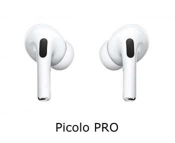 Picolo PRO Mini Earphones with Wireless Charging Case (Noise Cancelling)