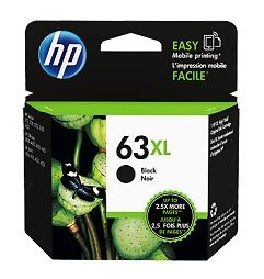 HP No. 63XL Black Ink - Estimated Page Yield 480 - F6U64AA