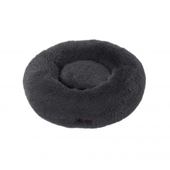 Charlie's Faux Fur Fuffy Calming Pet Bed Nest Large Charcoal
