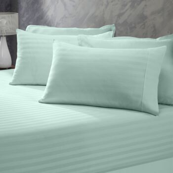 Royal Comfort 1200 Thread Count 3 Piece Combo Set 100% Egyptian Cotton Striped