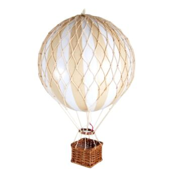 Authentic Models Travels Light Hot Air Balloon Model - White/Ivory