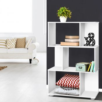 3 Tier Display Shelf Bookshelves Bookcase Cube Stand Rack Storage Unit White