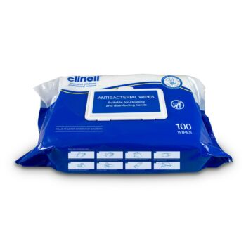 Clinell Antibacterial Hand Wipes - 100 Wipes