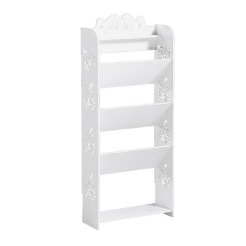 Levede 5 Tiers 43 Width Chic Hollow Storage Shoe Rack Stand Shelf Organiser