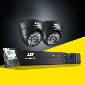 ULtech CCTV Security System Camera 4CH DVR 1080P Outdoor HD IP 2MP Cameras 1TB