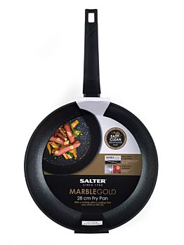 Salter 28cm Marble Frypan Gold