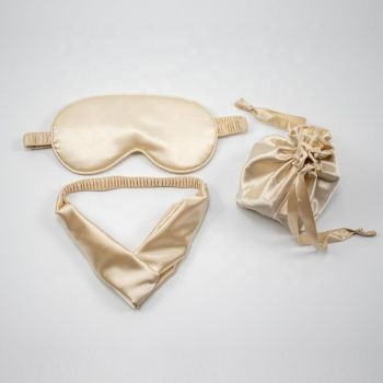 Cream Headband and Eye Mask Gift Set