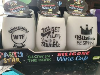 Glow in the Dark Wine Cups - Don't Quit Your Day