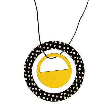 Pendant in yellow with spots