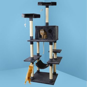 i.Pet Cat Tree Trees Scratching Post Scratcher Tower Condo House Furniture Wood 184cm