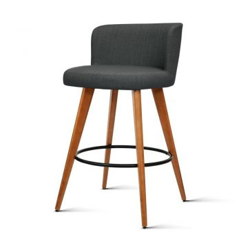 Artiss 4x Wooden Bar Stools Modern Bar Stool Kitchen Dining Chairs Cafe Charcoal