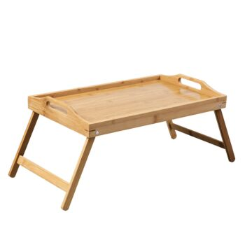Gourmet Kitchen Bamboo Breakfast In Bed Tray Wood Brown