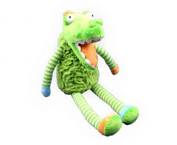Plush Toy Crocodile - Blue/Green Striped