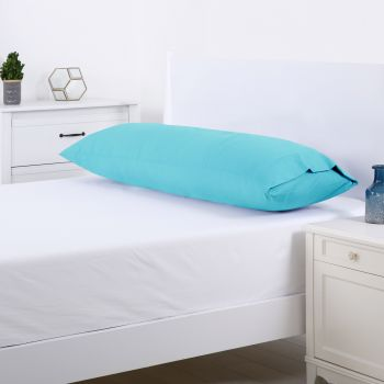 Dreamaker 250TC Plain Dyed Body Pillowcase - Aqua