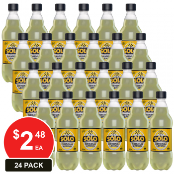 24 Pack, Schweppes 600ml Solo Original