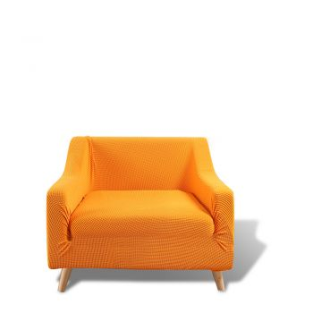 DreamZ Couch Stretch Sofa Cover Protector Slipcover 1 Seater in Orange