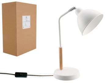 LUMINITE TABLE LAMP BODA WHITE 27X15X38CM