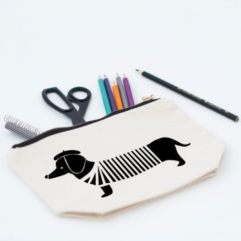 Sausage Dog Makeup Bag