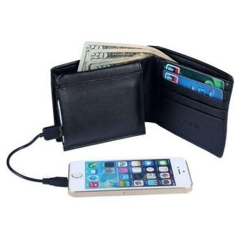 Black M|M Men'S Charging Wallet