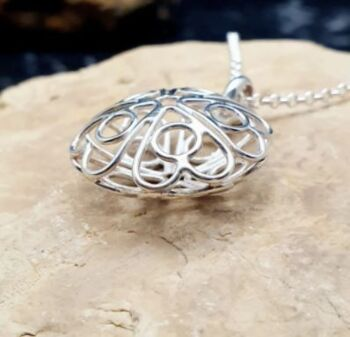 Heart Sterling Silver Filagree pendant