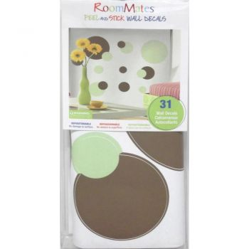 Just Dots Green & Brown Wall Stickers