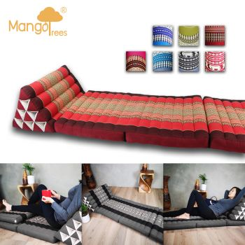 Large THREE FOLDS Thai Triangle Cushion Foldout Daybed