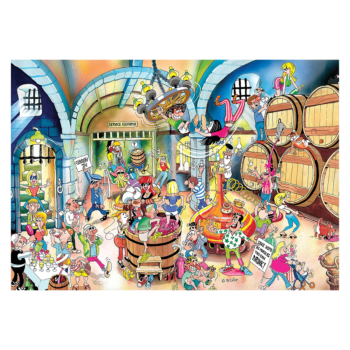 Wine Cellar 1500 Jigsaw Puzzle   A Funfilled Evening In The Wine Cellar!