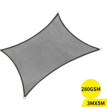 Outdoor Awning Sun Shade Canopy UV Proof in Charcoal Colour