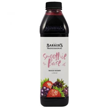 Barker's Mixed Berry Smoothie Base - 1lt (vegan G/F)