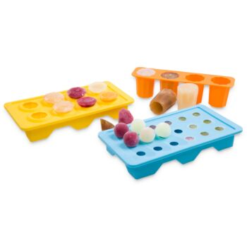 Gourmet Kitchen 3 Pieces Ice Tray Set Blue