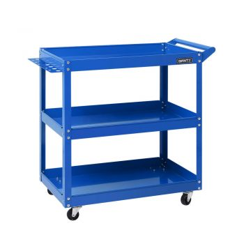 Tool Box Trolley Toolbox Tool Cart 3Tier Parts Steel Mechanic Storage Organizer Blue Giantz